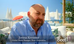 Brands Like Bose Wants Flexible, All-Platform Ads: Kremser